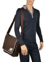 Crossbody Bag A4 New balance Brown new balance 37381170-vue-porte
