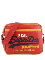 Shoulder Bag Superdry Red alumni US9JC015