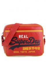 Shoulder Bag Superdry Red alumni US9JC015