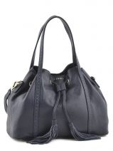 Purse Tradition Leather Etrier Blue tradition EHER001