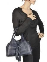 Purse Tradition Leather Etrier Blue tradition EHER001-vue-porte