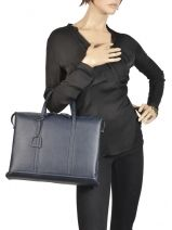 Briefcase 2 Compartments Etrier Blue tradition EHER006-vue-porte
