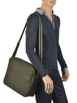 Messenger Bag A4 Fred perry Green authentic L5209-vue-porte