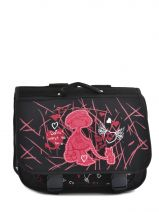 Cartable 2 Compartiments Miniprix Noir dance 8703