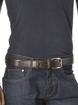 Belt Adjustable Petit prix cuir Brown classic 7617-vue-porte