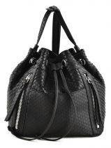 Sac Bandouliere Porte Travers 24h Leather Gerard darel Black 24h DAS06402