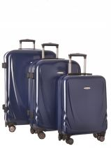 Lot De 3 Valises Travel Bleu meli PET48