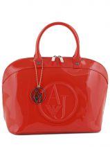 Doctor Bag Vernice Lucida Gelakt Armani jeans Rood vernice lucida 5230-RJ