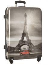 Hardside Luggage Print Shinny Travel Multicolor print shinny PT1345-L