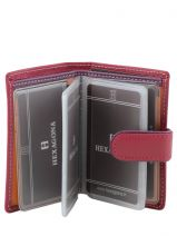Card Holder Leather Hexagona Pink multico 227375-vue-porte