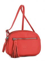 Sac Bandouliere Porte Travers Crazy Cuir Woomen Rouge crazy WVCR001