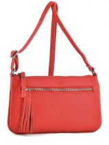Sac Bandouliere Porte Travers Crazy Cuir Woomen Rouge crazy WVCR005