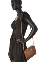 Sac Bandoulière Jet Set Travel Cuir Michael kors Marron crossbodies S4GTVC3L-vue-porte