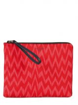 Pochette Ceremonie Sac De Soiree Paul's boutique Rouge zigzag FLEZIG
