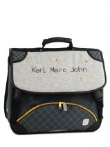 Cartable 2 Compratiments Karl marc john Gris star 632936