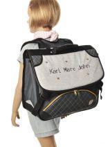 Satchel 2 Compartments Karl marc john Gray star 632936-vue-porte