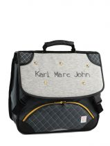 Cartable 2 Compartiments Karl marc john Gris star 671936