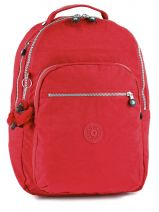 Sac à Dos 1 Compartiment + Pc 15'' Kipling Rouge basic 15015
