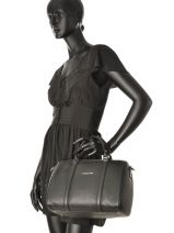 Bowling Mademoiselle Ana Leather Lancaster Black mademoiselle ana 572-48-vue-porte