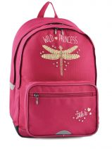 Sac A Dos 2 Compartiments Ikks Rose dragon fly 4DFSDL