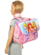 Satchel 2 Compartments Princess Pink smile 13608-vue-porte