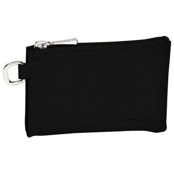 Longchamp Veau foulonné Key rings Black