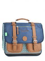 Schoolbag Cameleon Blue vintage 15V-CA38