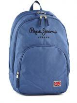 Sac A Dos 2 Compartiments Pepe jeans Bleu plain color blue 60424