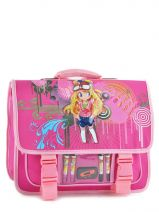Cartable 2 Compartiments Miniprix Rose girl B6628