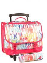 Cartable A Roulette + Trousse Assortie Offerte Roxy Multicolore girlaccessoires LBP03011