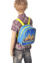 Backpack 1 Compartment Minions Blue le buddies 56924ASF-vue-porte