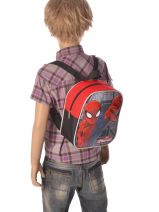 Backpack 1 Compartment Spiderman Multicolor leaping spider 56414LSF-vue-porte