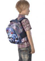 Backpack 1 Compartment Miniprix Blue rangers 53212-vue-porte