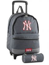 Sac A Dos A Roulettes 2 Compart + Trousse Mlb/new-york yankees Noir couture NYX22045
