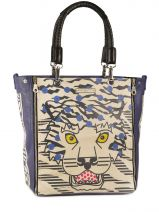 Shopping/cabas Safari Cuir Barbara rihl Bleu safari E103GIM