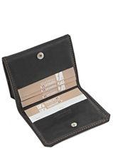 Purse Leather Foures Black 9148-vue-porte