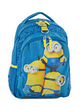 Backpack 2 Compartments Minions Blue happy 580-6886