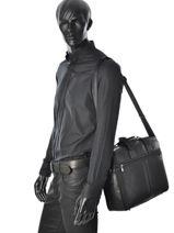 Briefcase David william Black bolton D61138-vue-porte