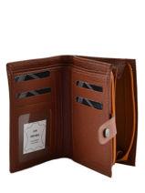 Purse Leather Etrier Brown madras 651-vue-porte