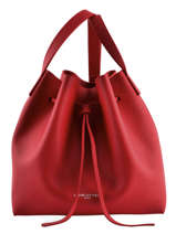 Crossbody Bag Lancaster Red pur saffiano 422-18