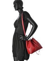 Crossbody Bag Lancaster Red pur saffiano 422-18-vue-porte