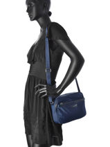 Shoulder Bag Basic Vernis Lancaster Blue basic vernis 514-62-vue-porte