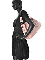 Shopper  Leather Milano Pink 183-vue-porte