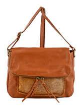Shoulder Bag Night Leather Milano Brown night 1007N