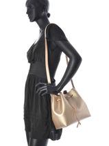 Crossbody Bag Lancaster Gold pur saffiano 422-18-vue-porte