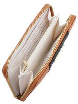Wallet Armani jeans Brown eco saffiano multico C5V88-S6-vue-porte