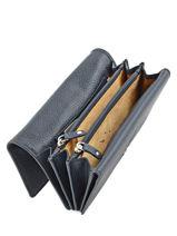 Wallet Leather Crinkles Blue 14001-vue-porte
