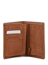 Wallet Leather Serge blanco Brown legende park LEG21010-vue-porte