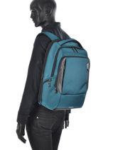 Backpack Samsonite Blue cityscape 41D103-vue-porte