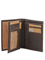 Wallet Leather Arthur et aston Brown destroy 62-800-vue-porte